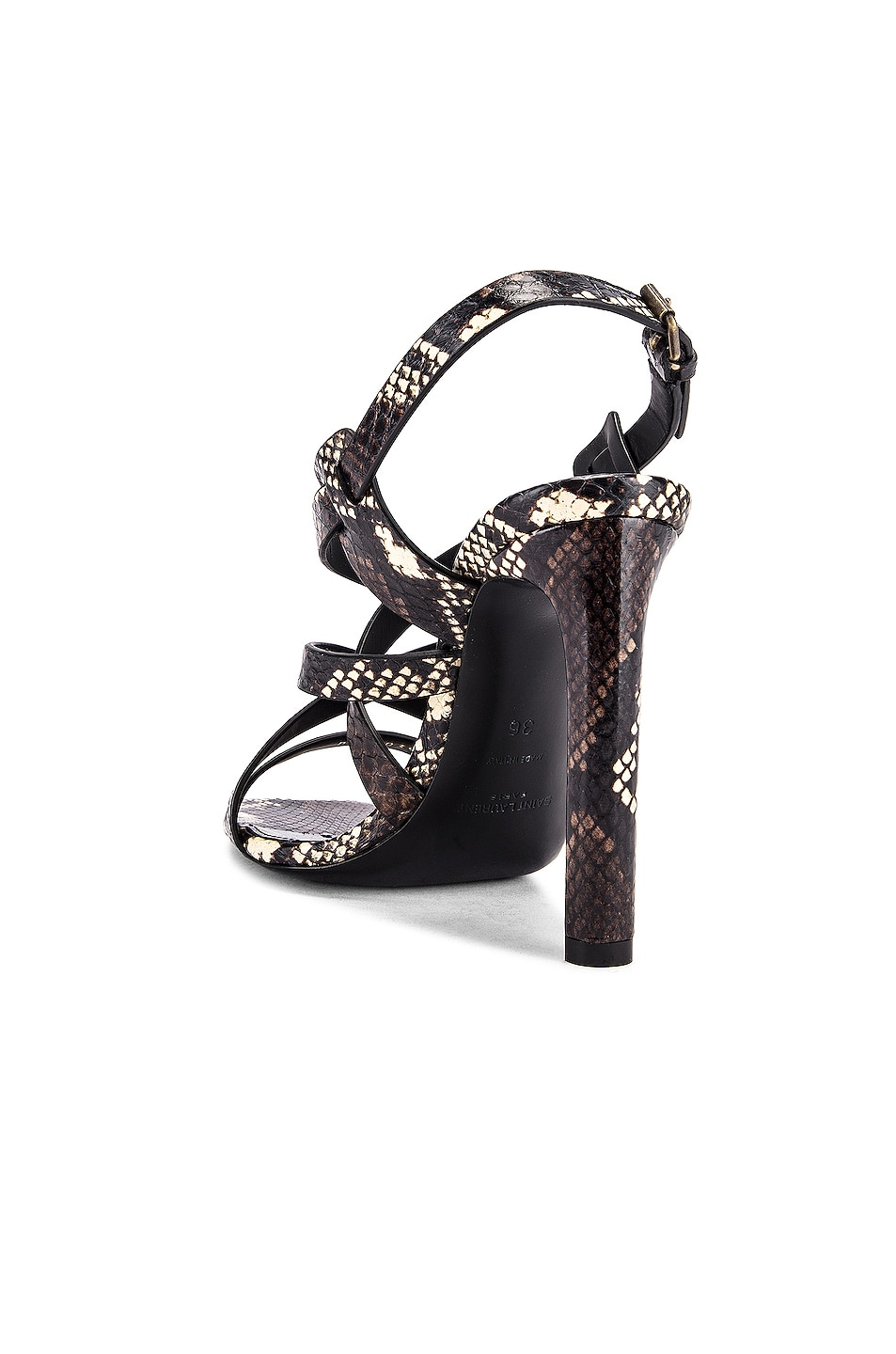Image 3 of Saint Laurent Bea Ankle Strap Sandals in Brown