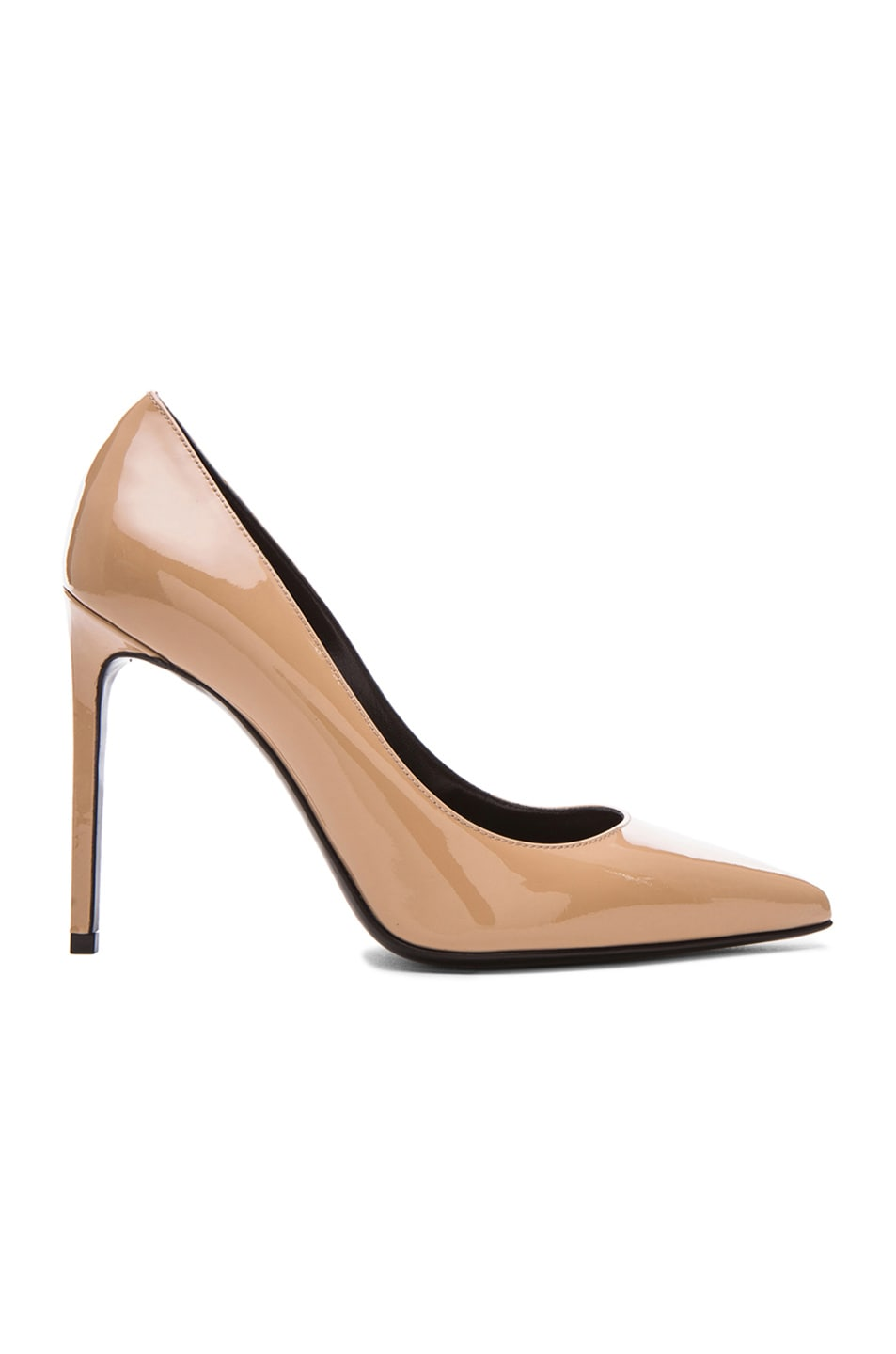 Image 1 of Saint Laurent Patent Leather Paris Skinny Pumps in Darker Nude