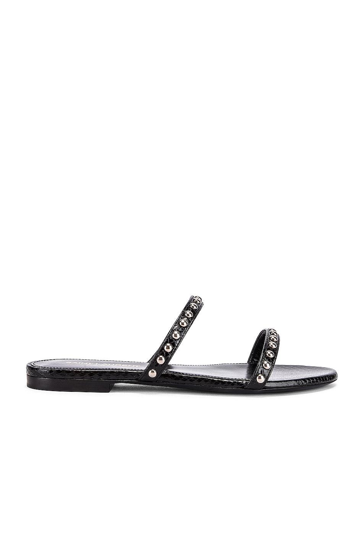 Image 1 of Saint Laurent Gia Stud Sandals in Black