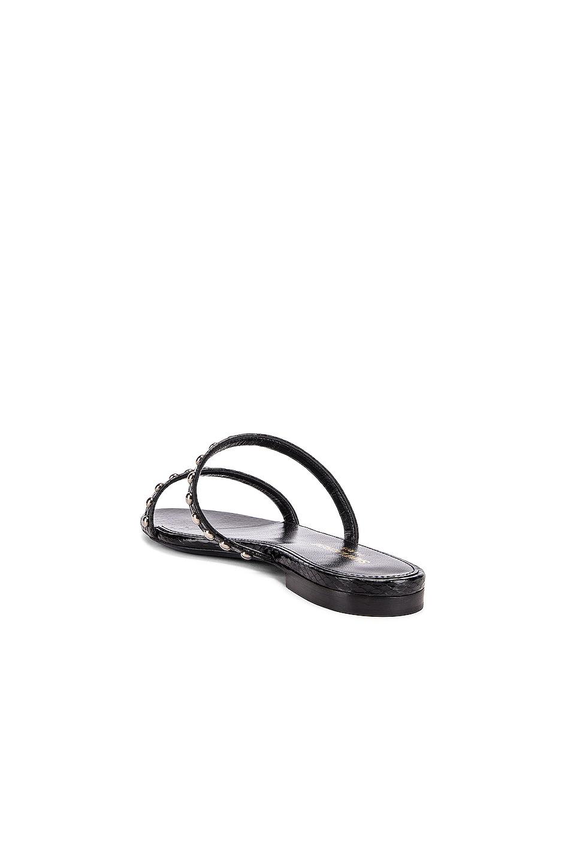 Image 3 of Saint Laurent Gia Stud Sandals in Black