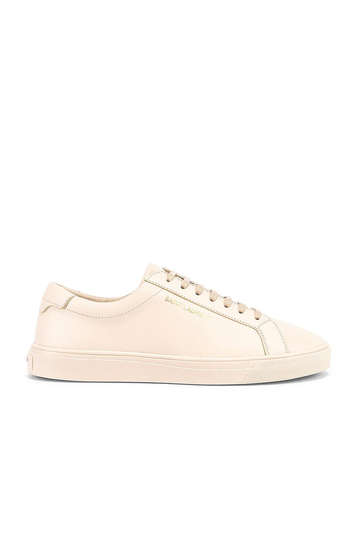Image 1 of Saint Laurent Andy Low Top Sneakers in Dark Coquille