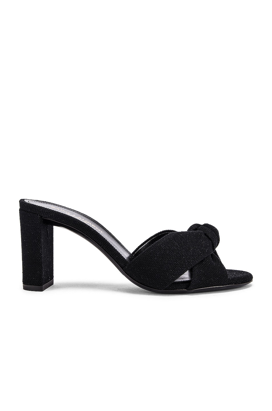 Image 1 of Saint Laurent Loulou Mule Sandals in Nero