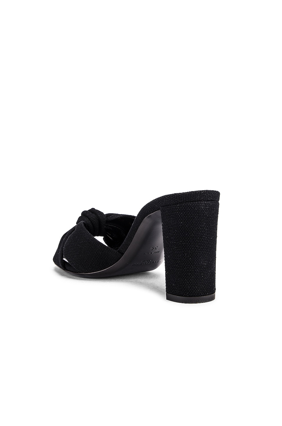 Image 3 of Saint Laurent Loulou Mule Sandals in Nero