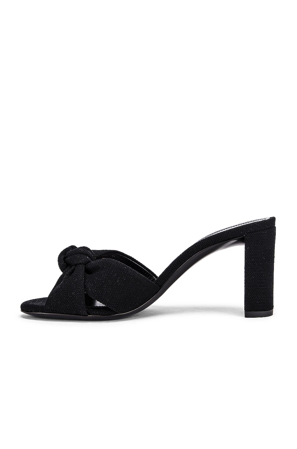 Image 5 of Saint Laurent Loulou Mule Sandals in Nero