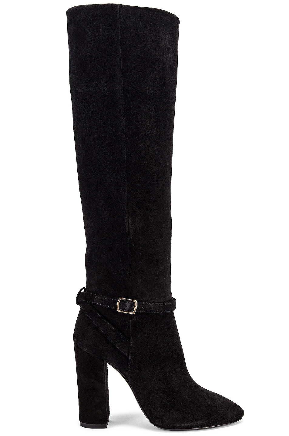 Image 1 of Saint Laurent Lou Harness Boots in Nero