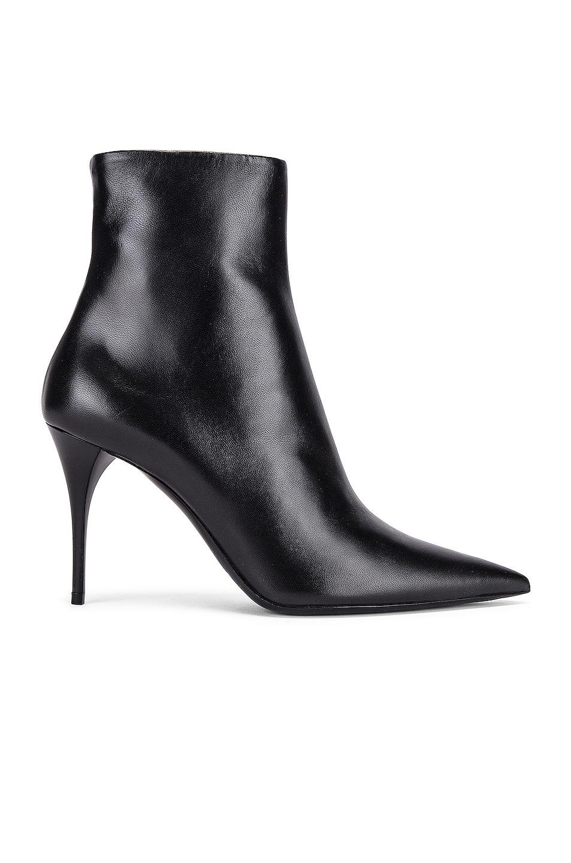 Image 1 of Saint Laurent Lexi Zip Booties in Nero