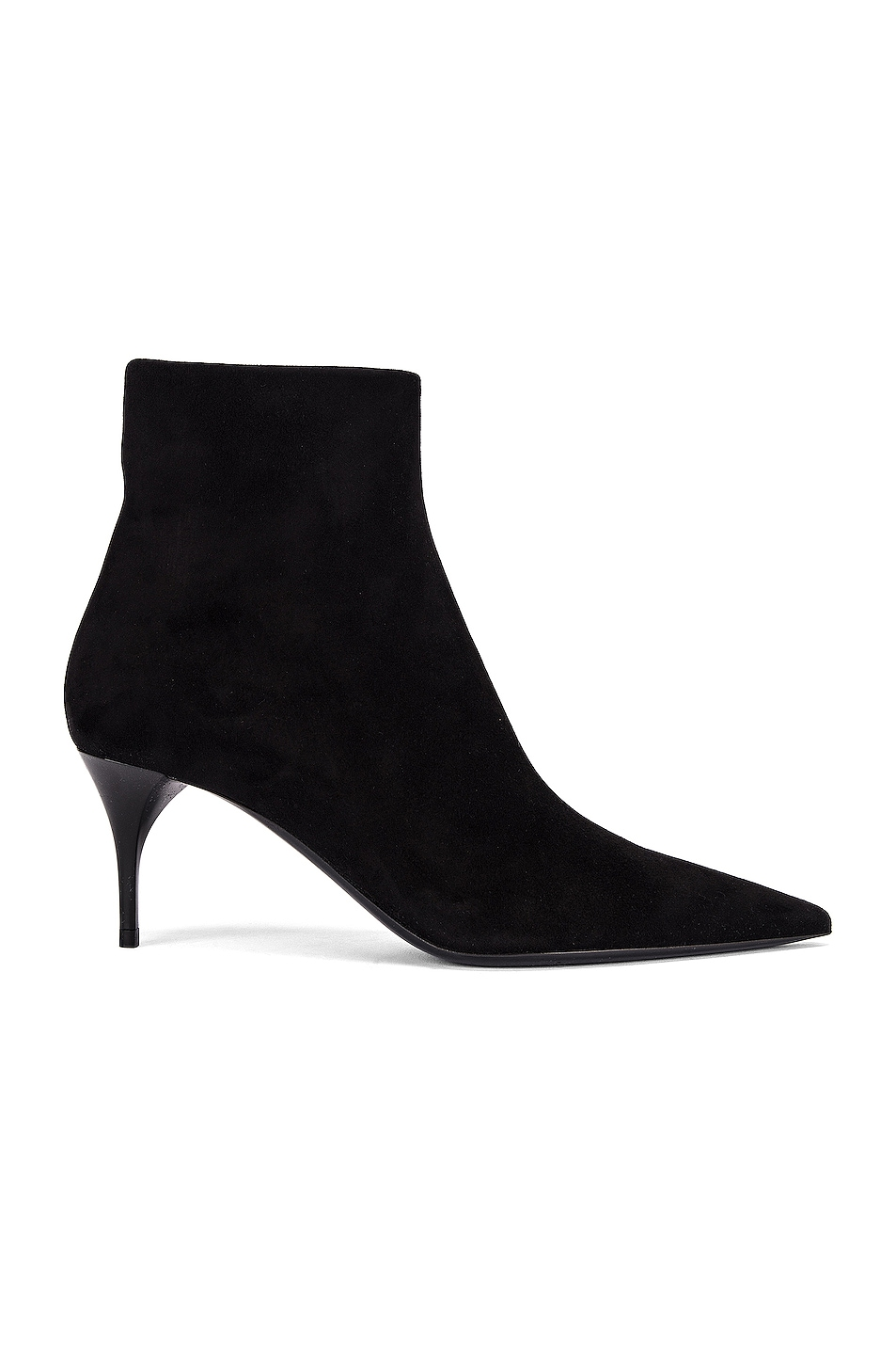 Image 1 of Saint Laurent Lexi Zip Booties in Nero