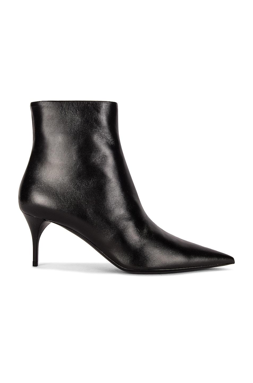 Image 1 of Saint Laurent Lexi Zipped Booties in Noir