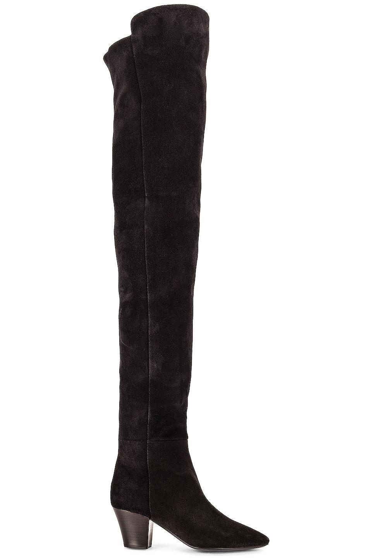 Image 1 of Saint Laurent Kim Over The Knee Boots in Noir