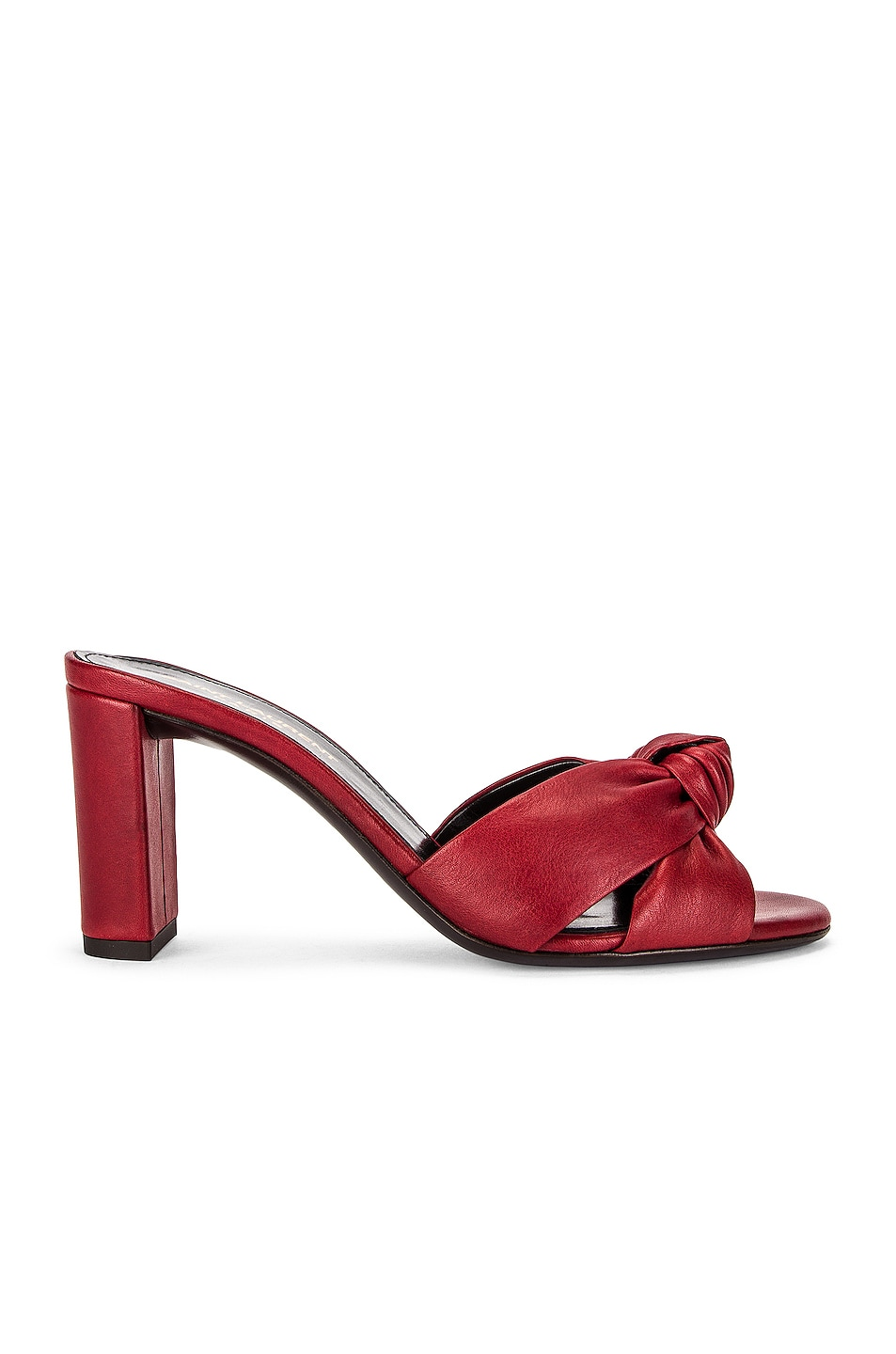 Image 1 of Saint Laurent Bianca Mule Sandals in Pomerol