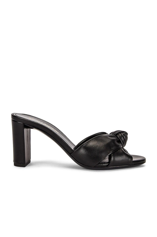 Image 1 of Saint Laurent Bianca Mule Sandals in Nero