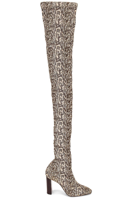 Image 1 of Saint Laurent Moon Boots in Beige Vintage