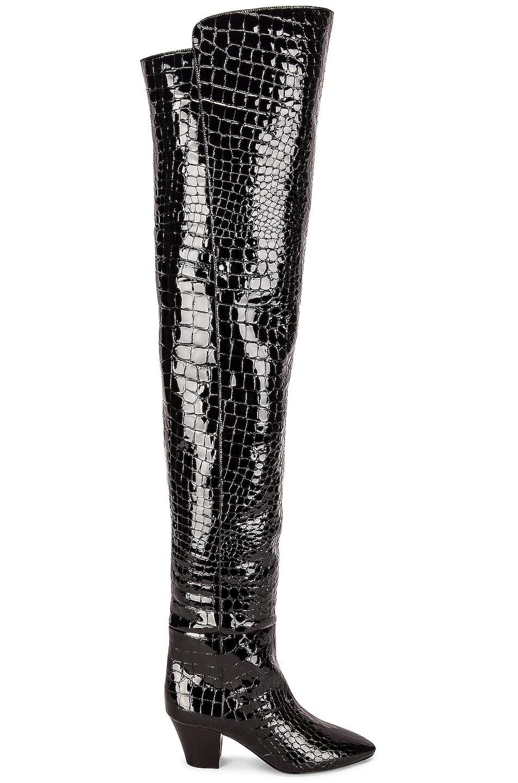 Image 1 of Saint Laurent Sun Over The Knee Boots in Nero