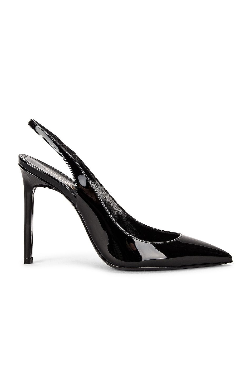 Image 1 of Saint Laurent Anja Slingback Heels in Noir