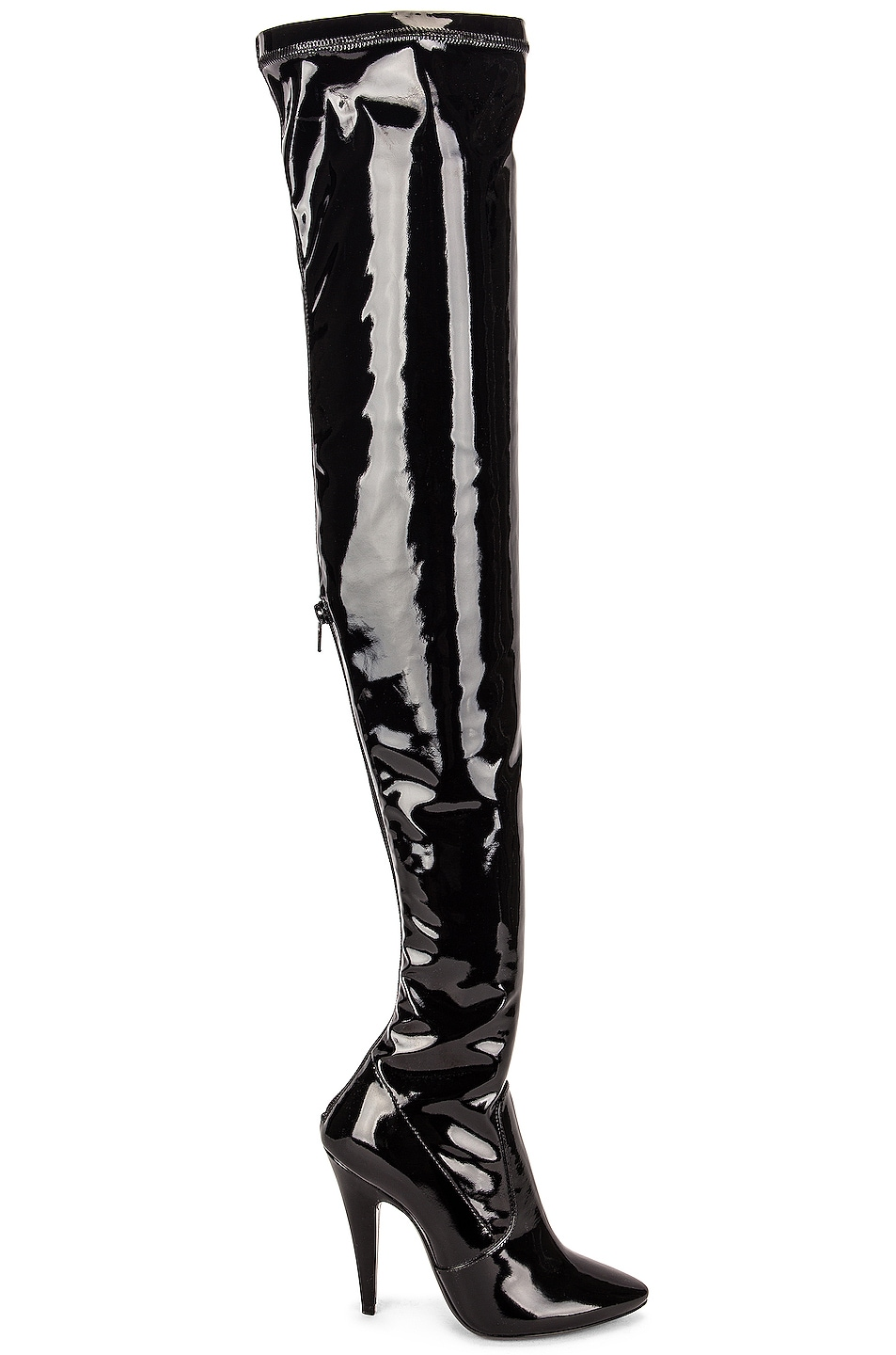 Image 1 of Saint Laurent Aylah Over the Knee Boots in Noir