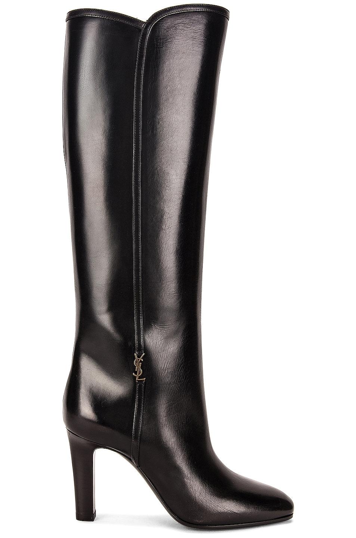 Image 1 of Saint Laurent Jane Boots in Noir