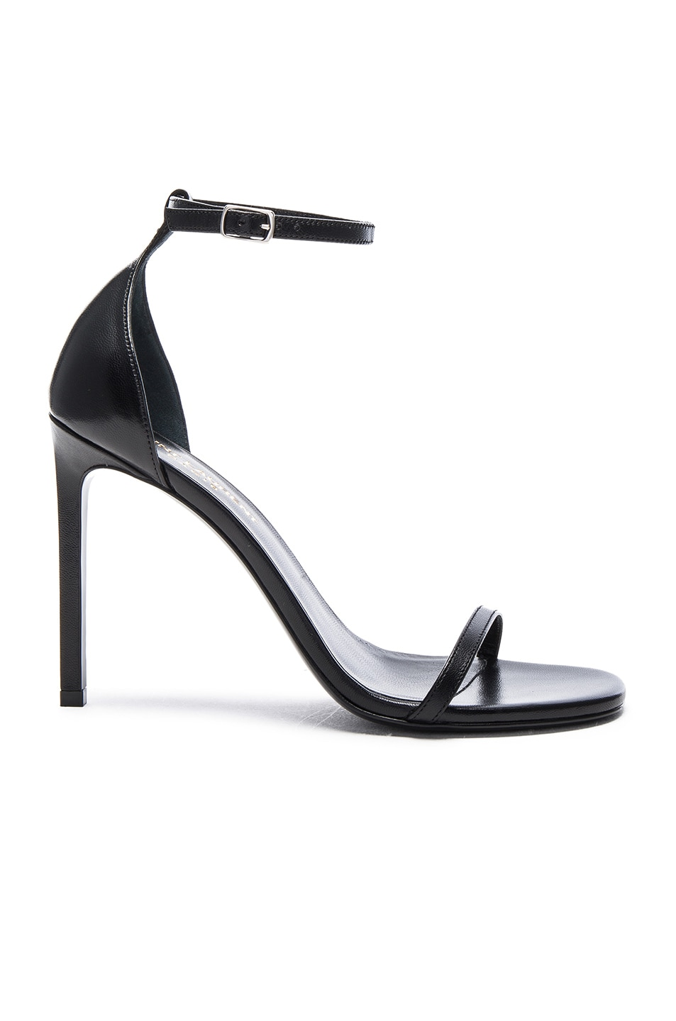 Image 1 of Saint Laurent Leather Jane Sandals in Black
