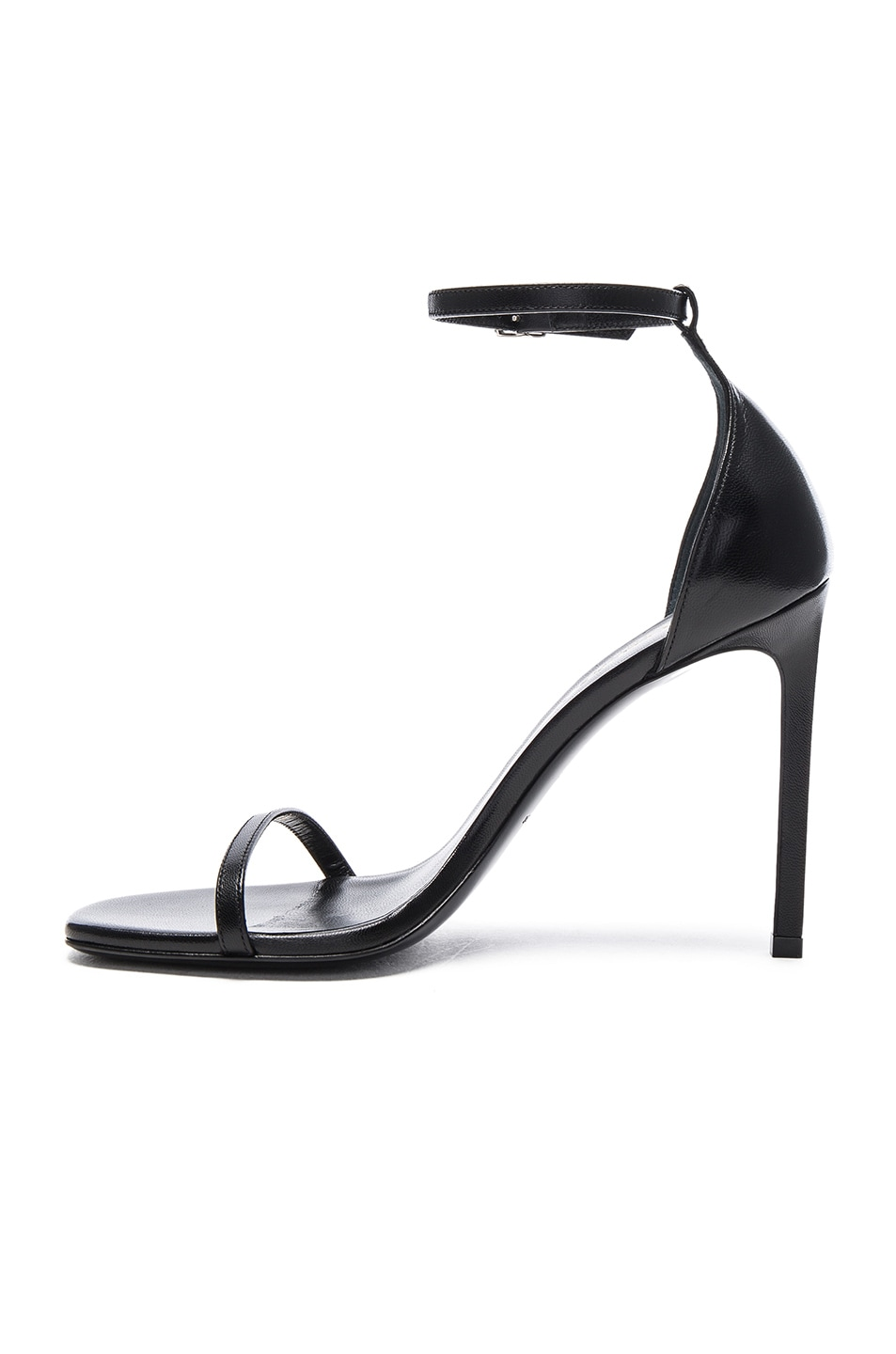 Image 5 of Saint Laurent Leather Jane Sandals in Black
