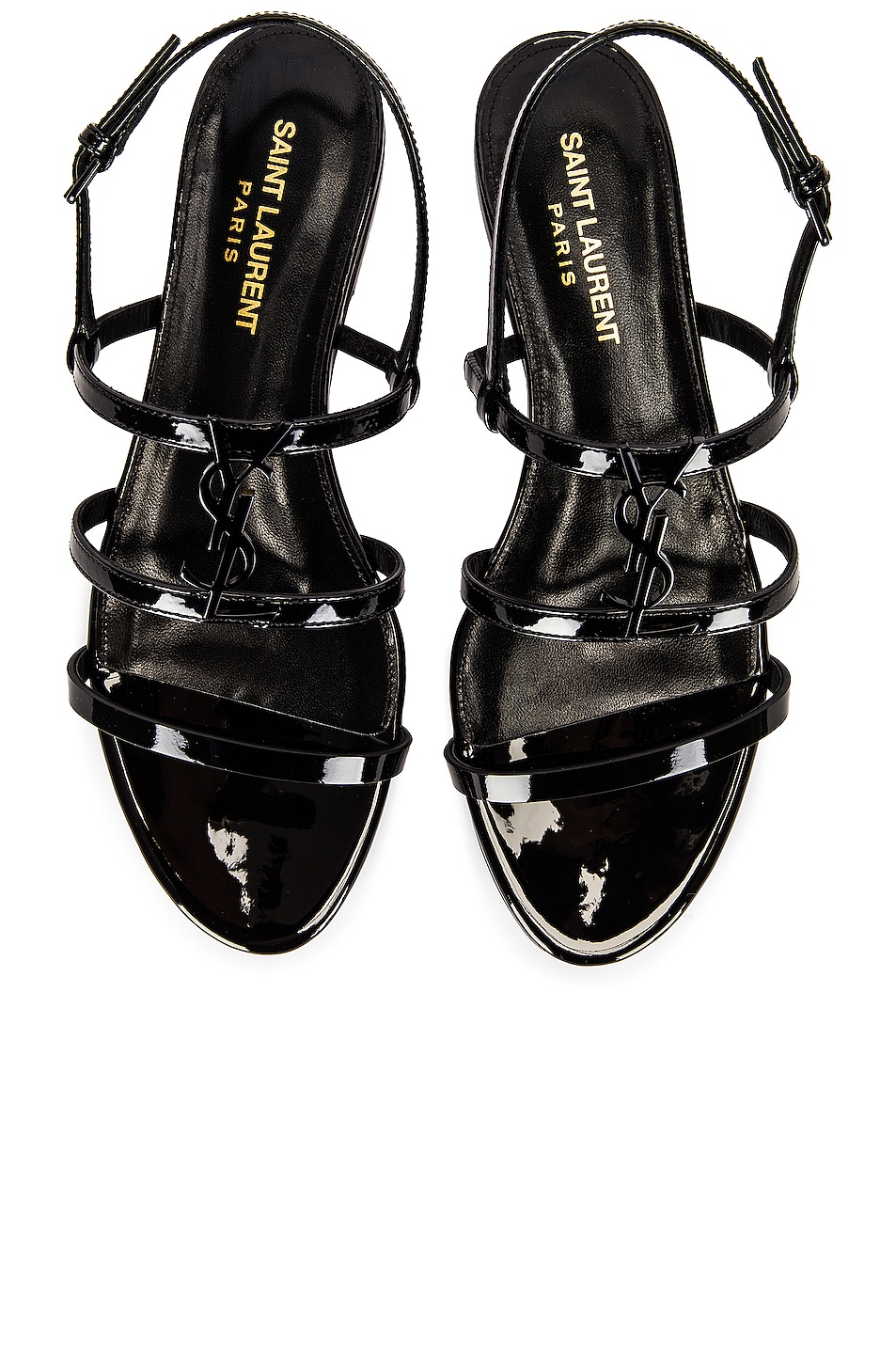 Image 1 of Saint Laurent Cassandra Flat Sandals in Noir