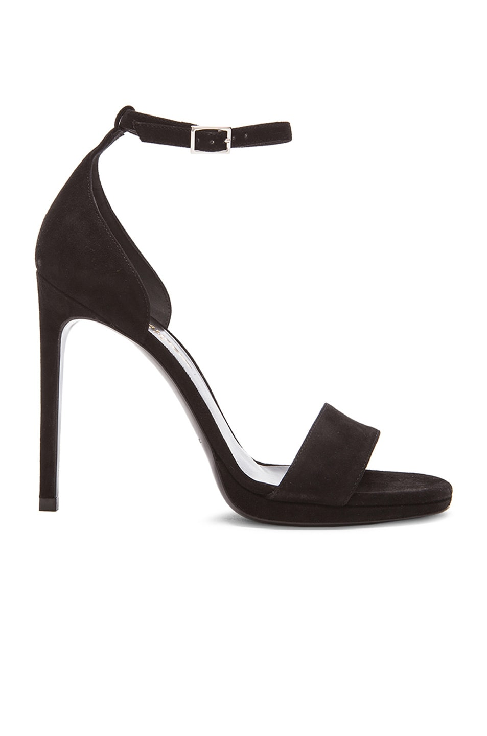 Image 1 of Saint Laurent Jane Suede Sandals in Black e485baeed0a8