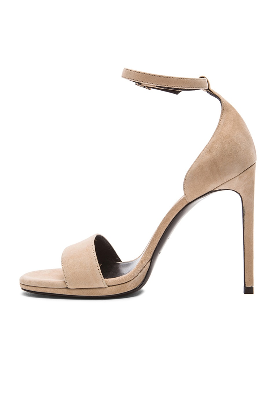 Image 5 of Saint Laurent Jane Suede Sandals in Dark Beige 4403d02dd372
