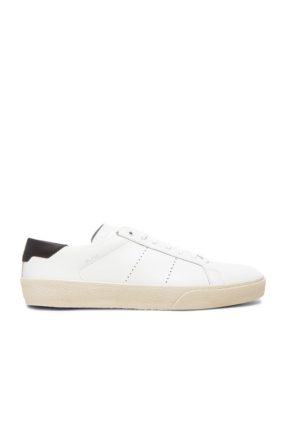 Image 1 of Saint Laurent Court Classic Sneakers in Black & White