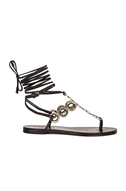Image 1 of Saint Laurent Sienna Flat Sandals in Noir