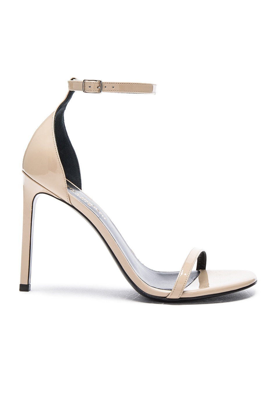 Image 1 of Saint Laurent Patent Leather Jane Sandals in Poudre