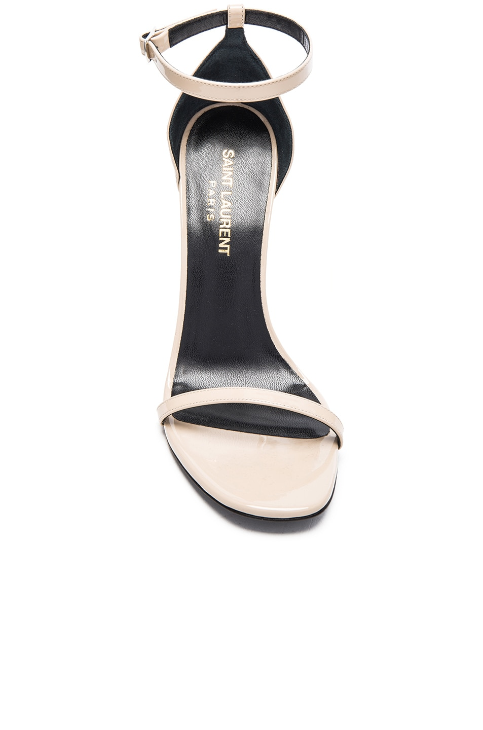 Image 4 of Saint Laurent Patent Leather Jane Sandals in Poudre