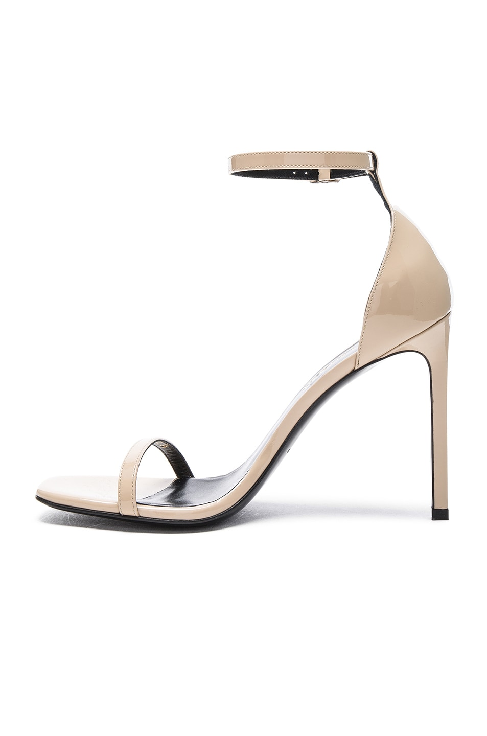 Image 5 of Saint Laurent Patent Leather Jane Sandals in Poudre