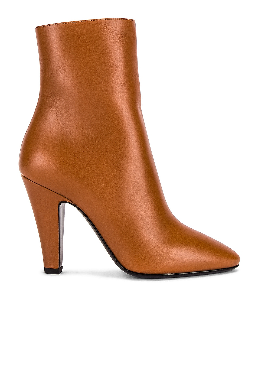 Image 1 of Saint Laurent 68 Ankle Booties in Cognac