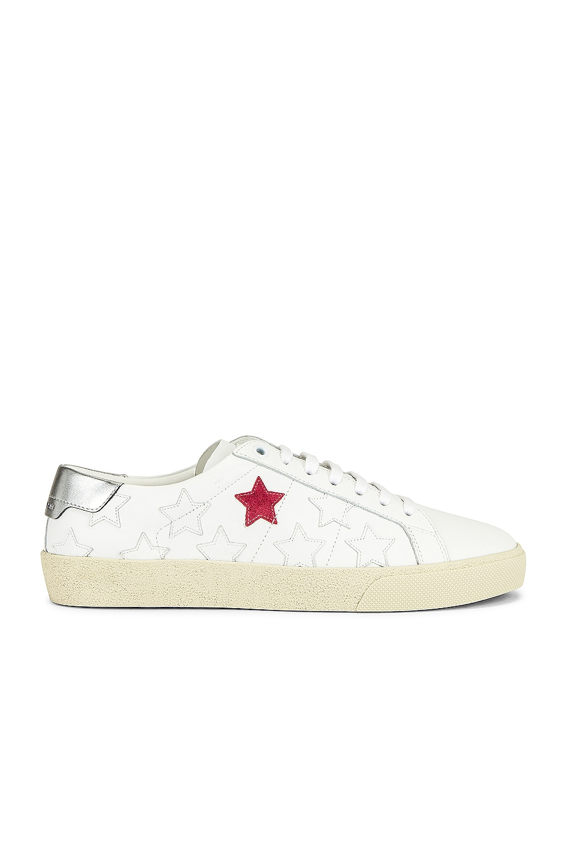 Image 1 of Saint Laurent Star Sneakers in Blanc Optique