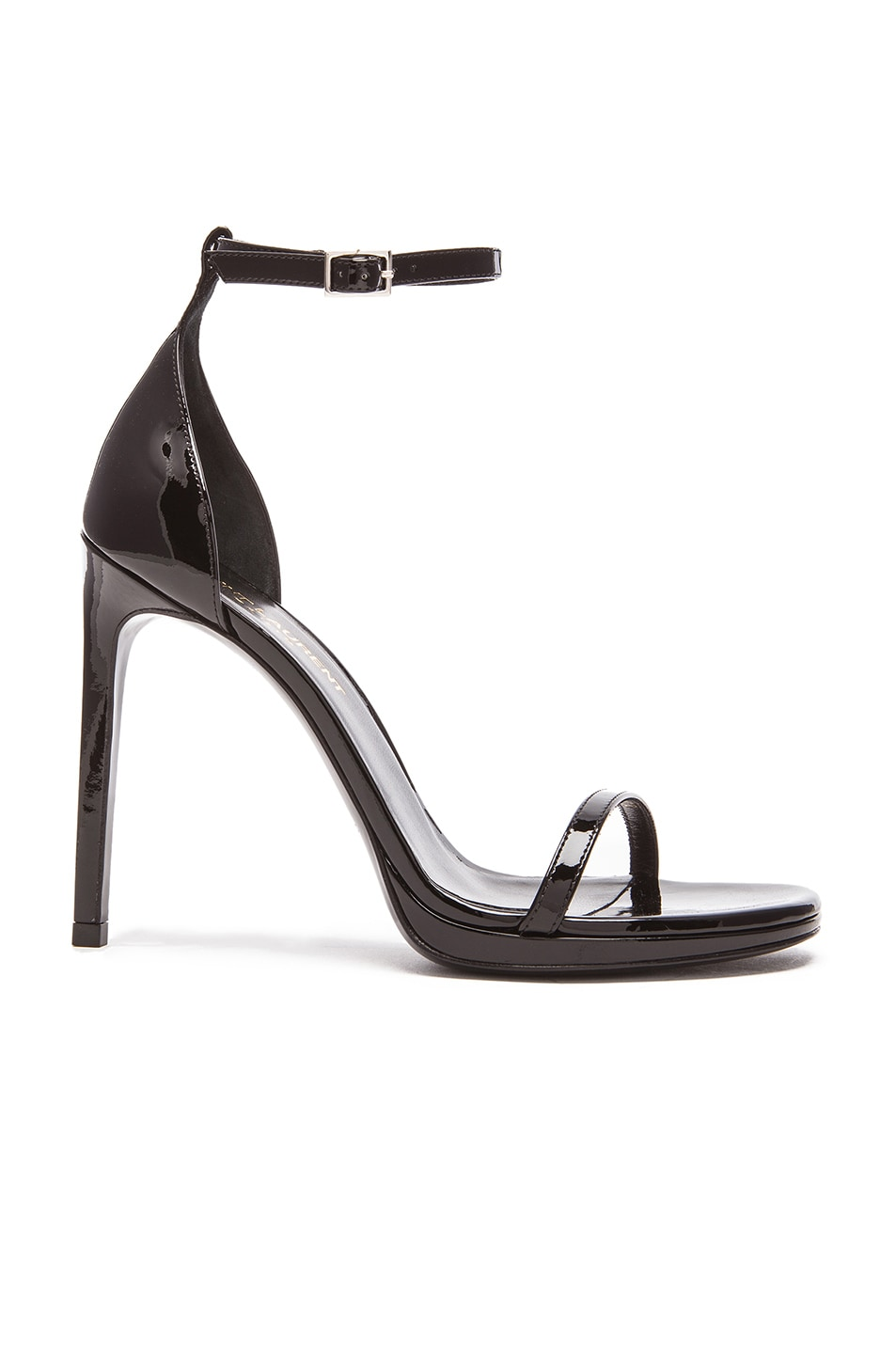 Image 1 of Saint Laurent Jane Patent Leather Sandals in Black