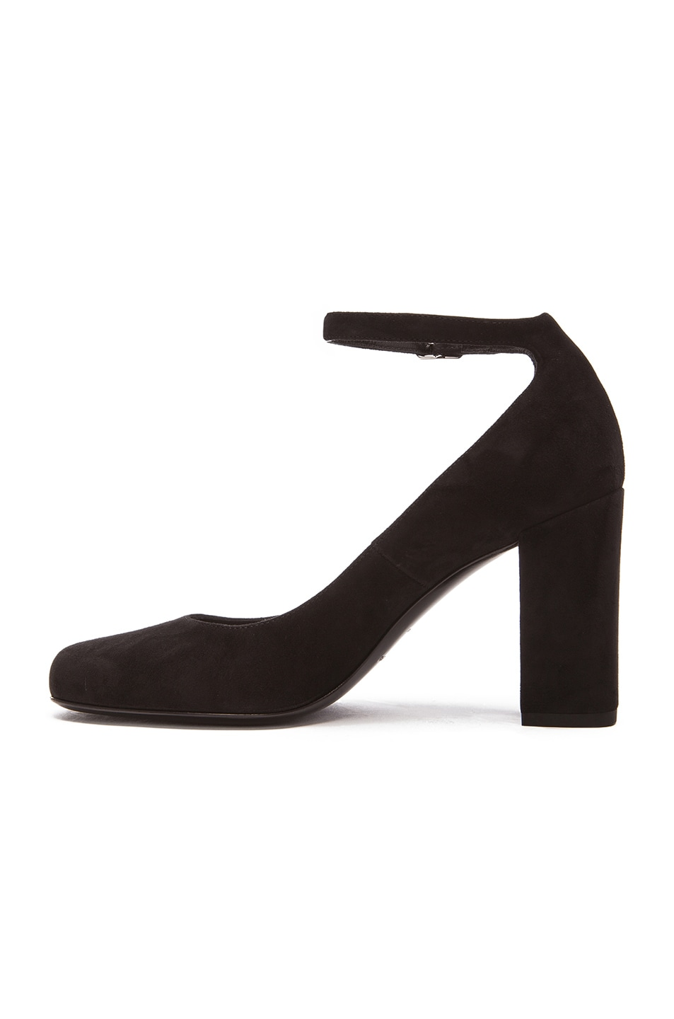 Black Suede Babies Heels Saint Laurent