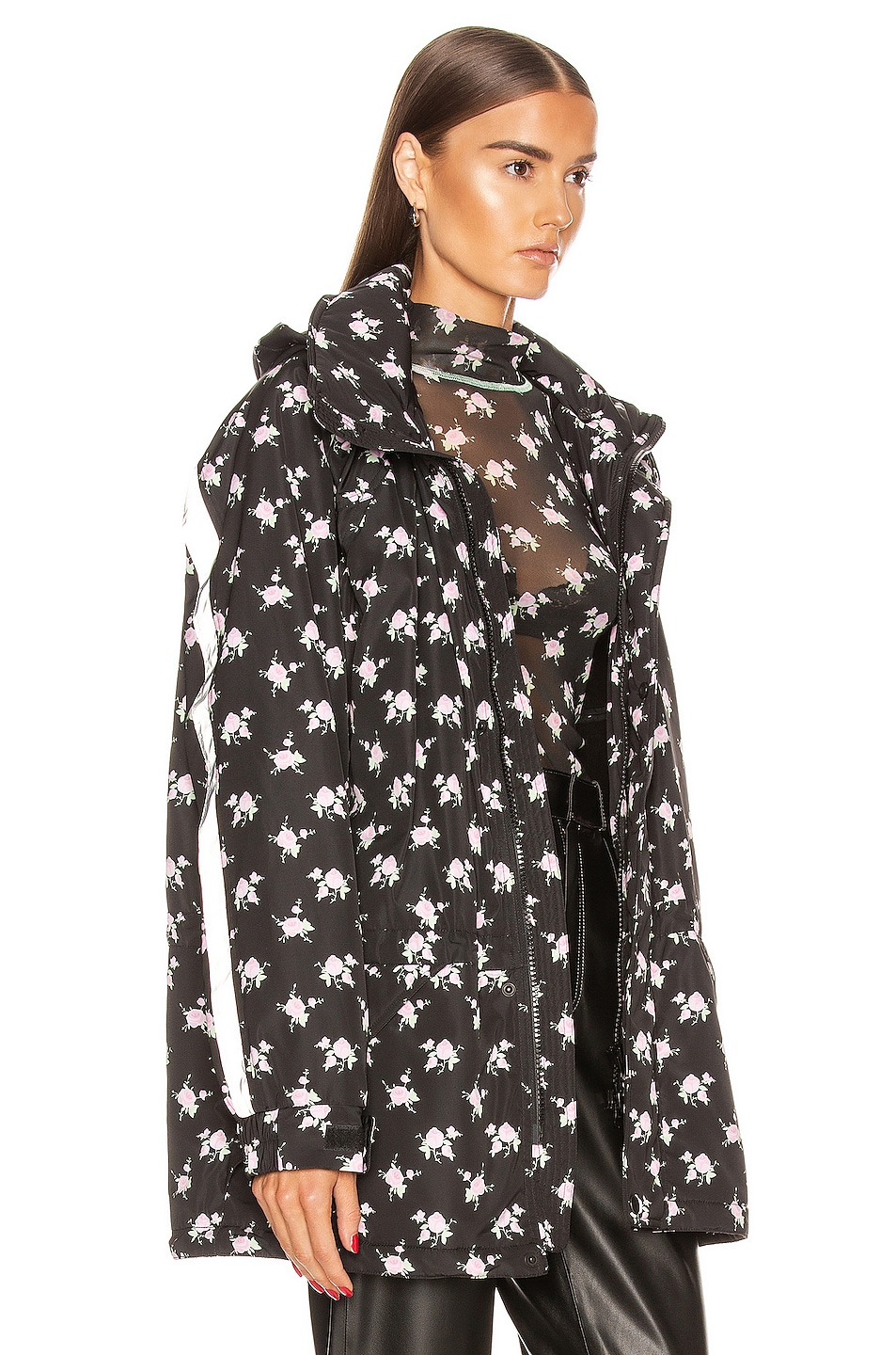 Image 3 of Sandy Liang Olivier Jacket in Tablecloth Black