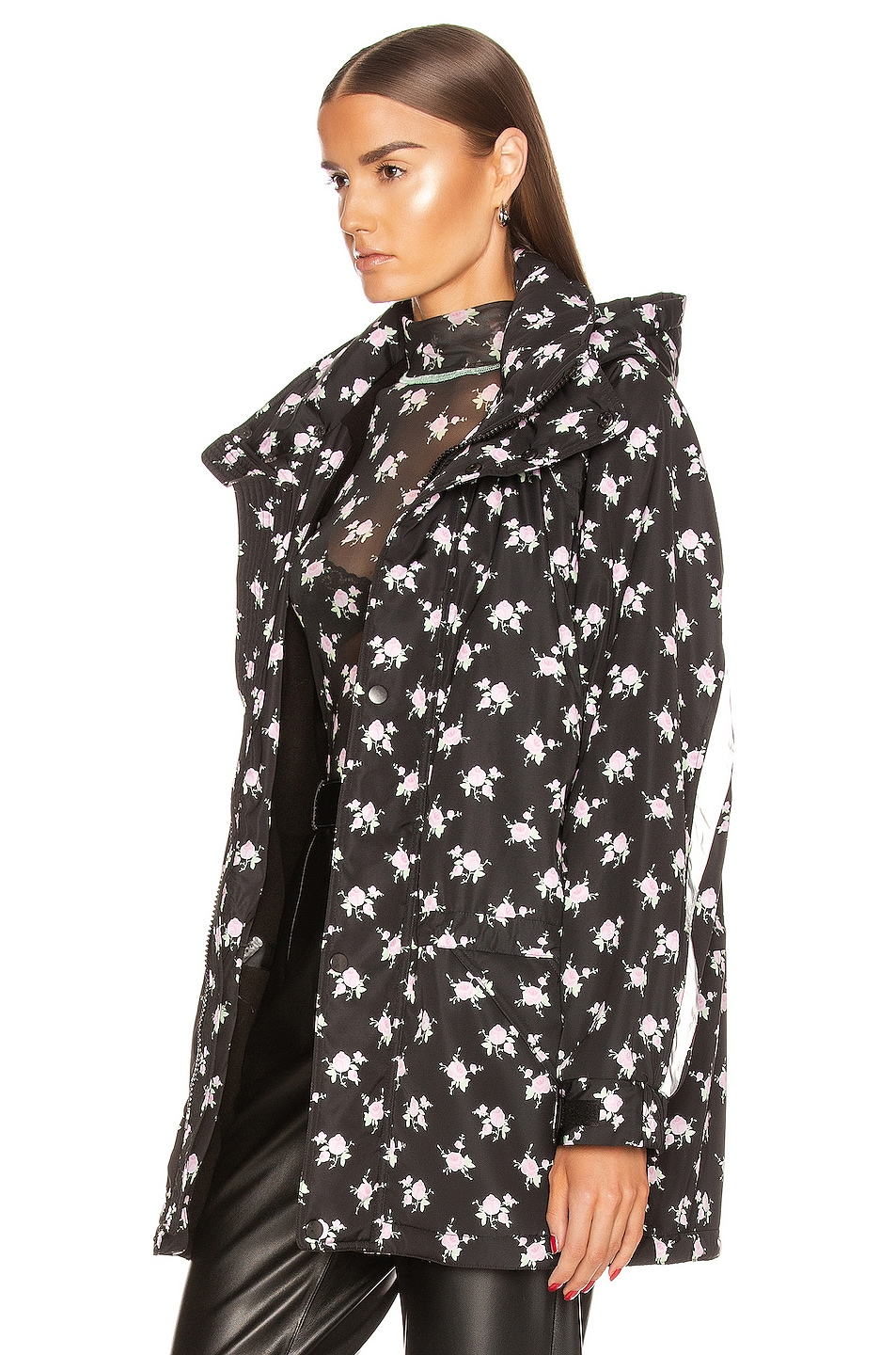 Image 4 of Sandy Liang Olivier Jacket in Tablecloth Black