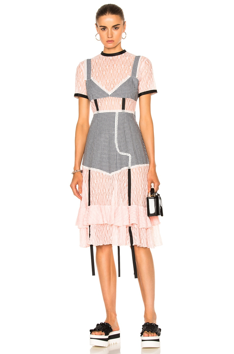 Image 1 of Sandy Liang Accord Dress in Peach Pink