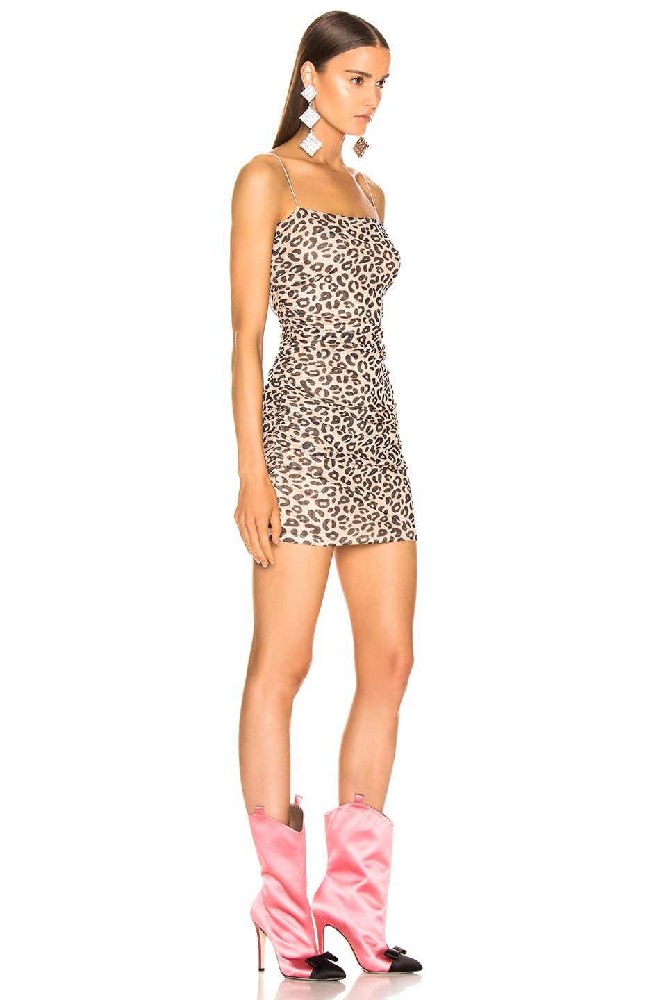 Image 2 of Sandy Liang Lily Dress in Pale Leopard
