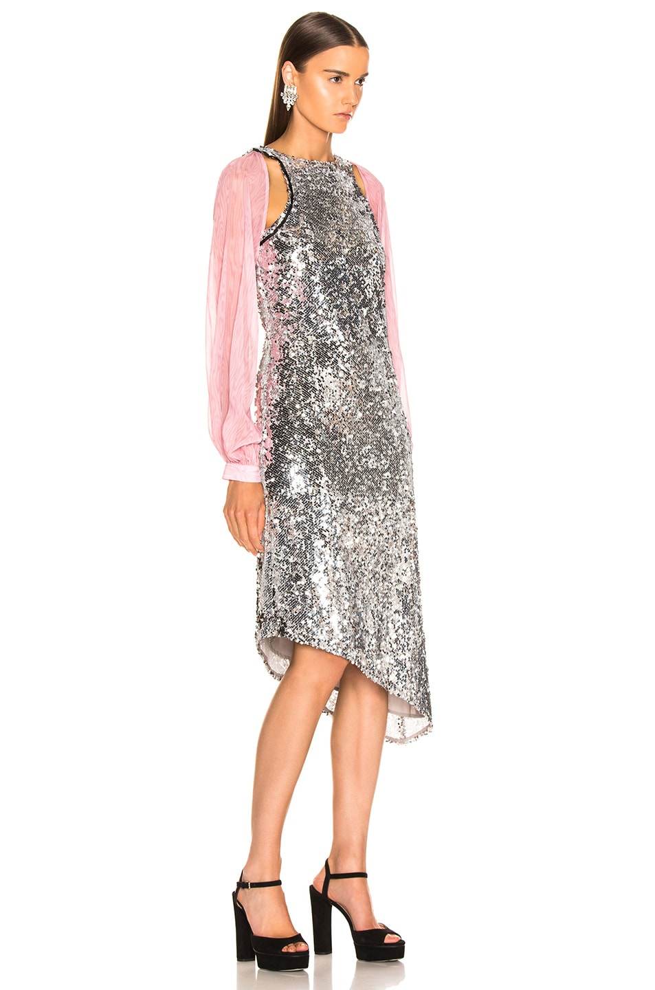 Image 3 of Sandy Liang Fonda Dress in Sequins