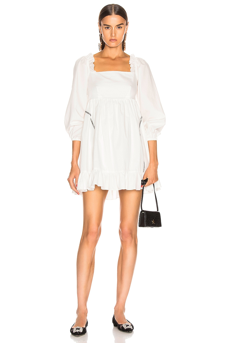 Image 1 of Sandy Liang Push Dress in White