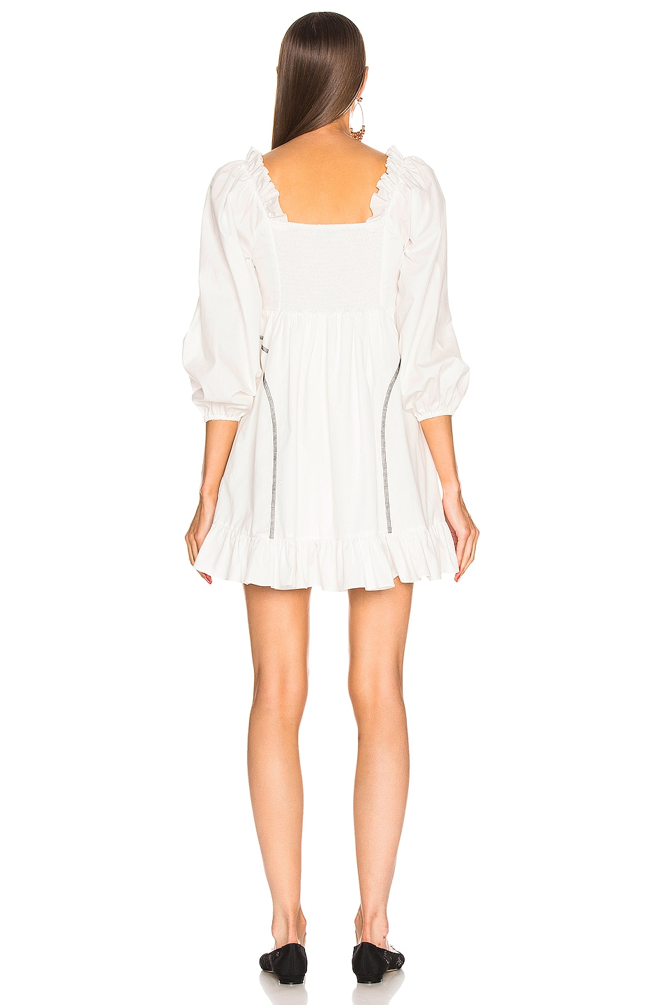 Image 3 of Sandy Liang Push Dress in White
