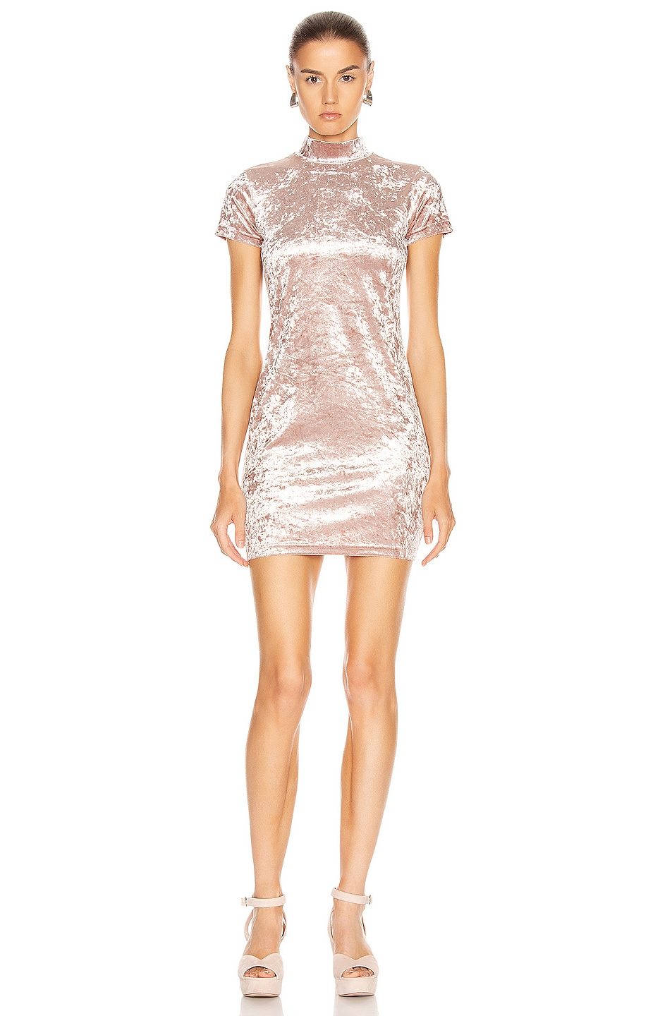 Image 1 of Sandy Liang Koro Dress in Dusty Pink