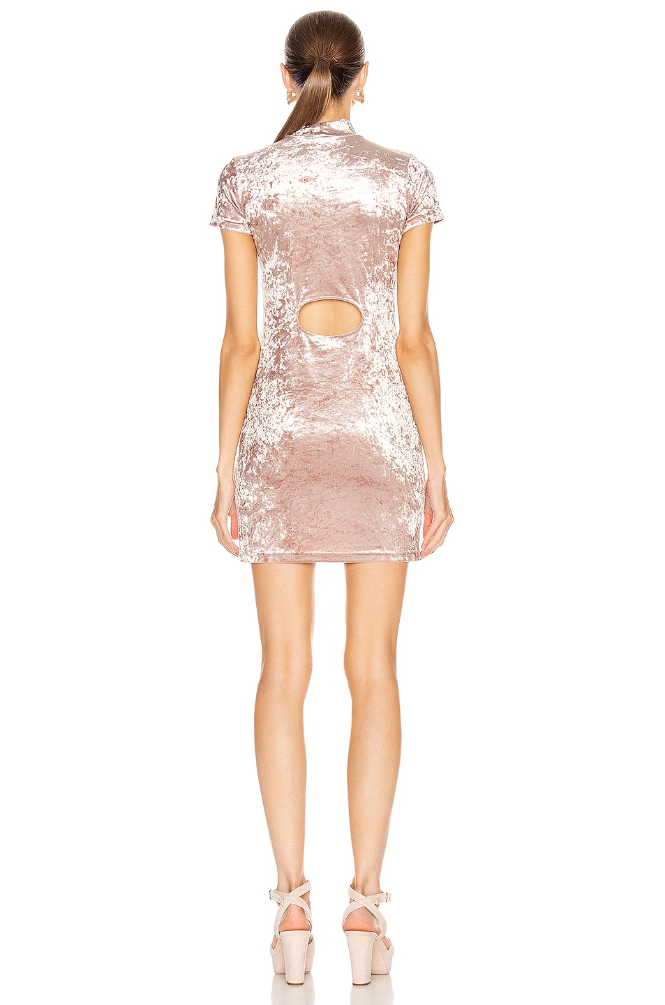 Image 3 of Sandy Liang Koro Dress in Dusty Pink