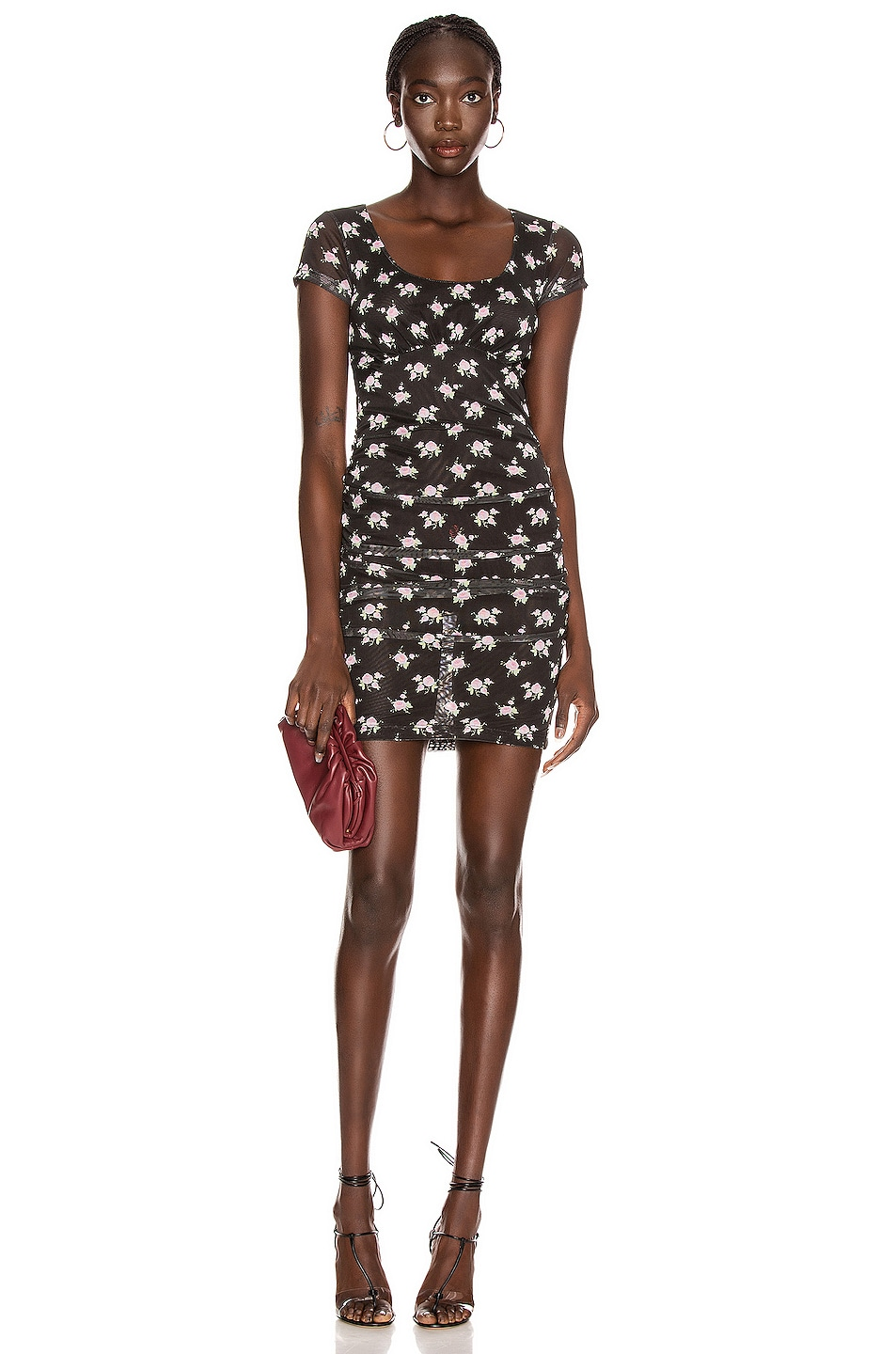 Image 1 of Sandy Liang Wei Dress in Tablecloth Black