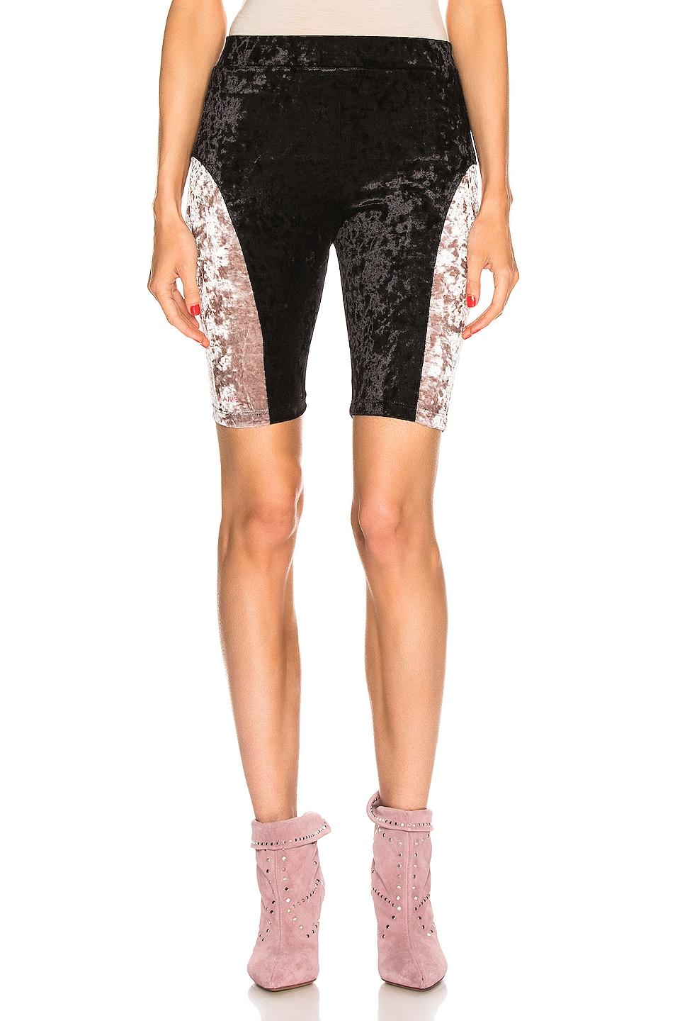 Image 1 of Sandy Liang Bobo Shorts in Black & Dusty Pink