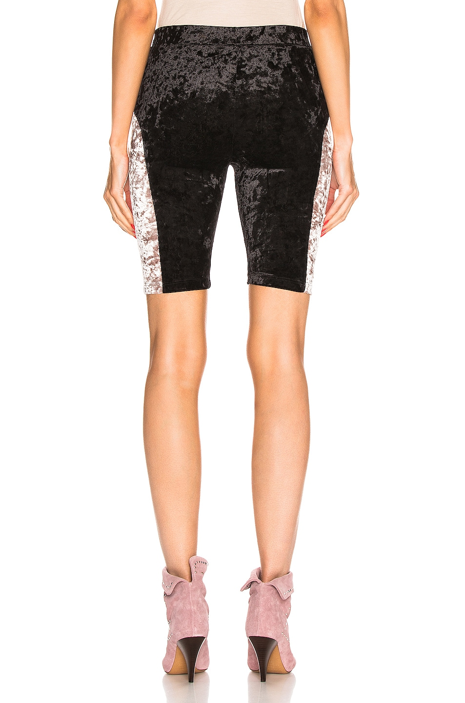 Image 3 of Sandy Liang Bobo Shorts in Black & Dusty Pink
