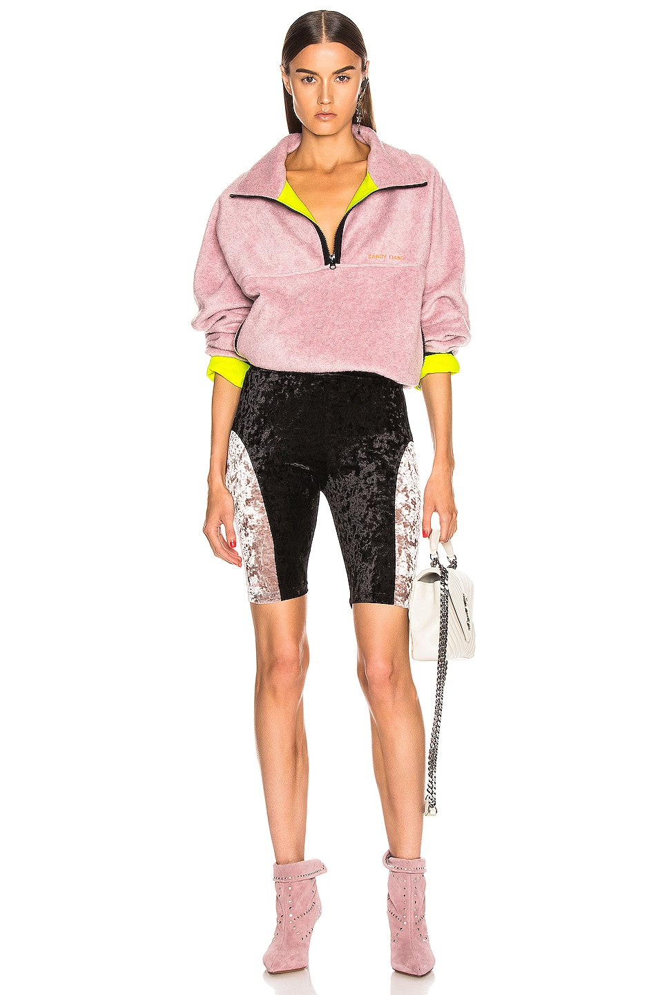 Image 4 of Sandy Liang Bobo Shorts in Black & Dusty Pink