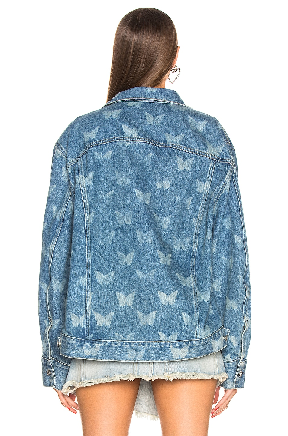Image 3 of Sandy Liang Morpho Jacket in Portland Wash & Butterfly Laser