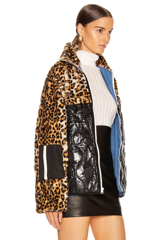 Image 3 of Sandy Liang Dean Faux Fur Fleece in Leopard