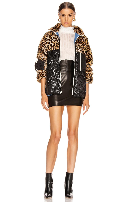 Image 6 of Sandy Liang Dean Faux Fur Fleece in Leopard